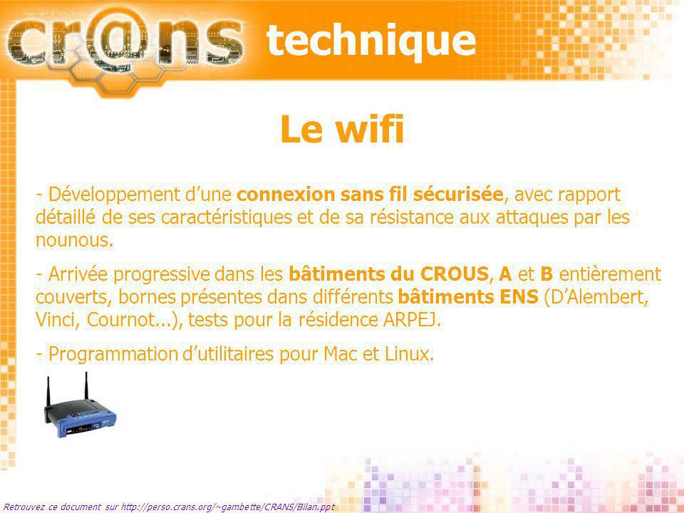 technique Le wifi.