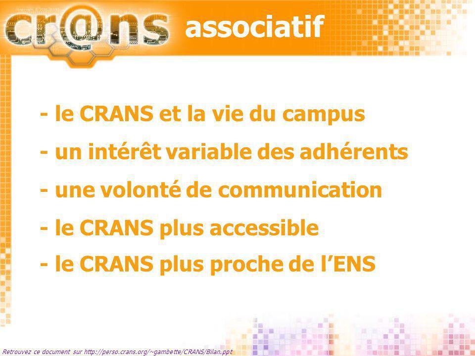 associatif - le CRANS et la vie du campus