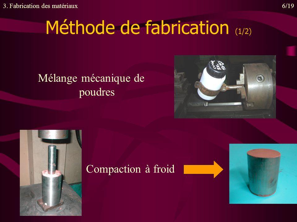 Méthode de fabrication (1/2)