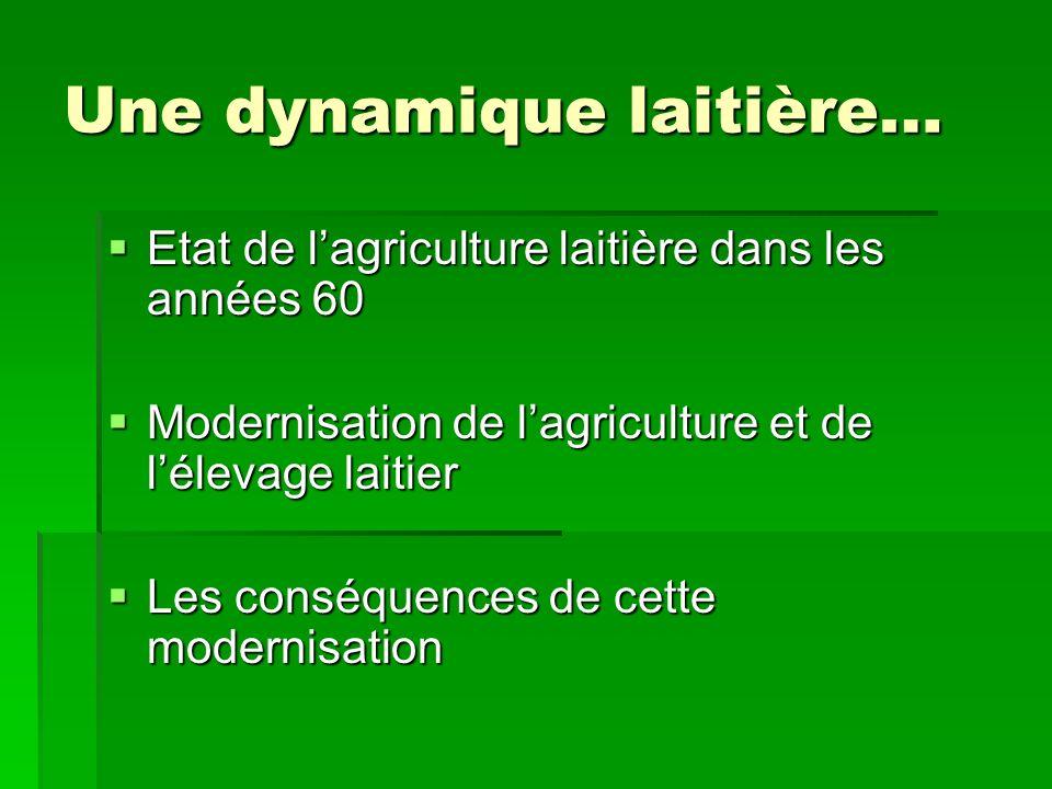 Une dynamique laitière…