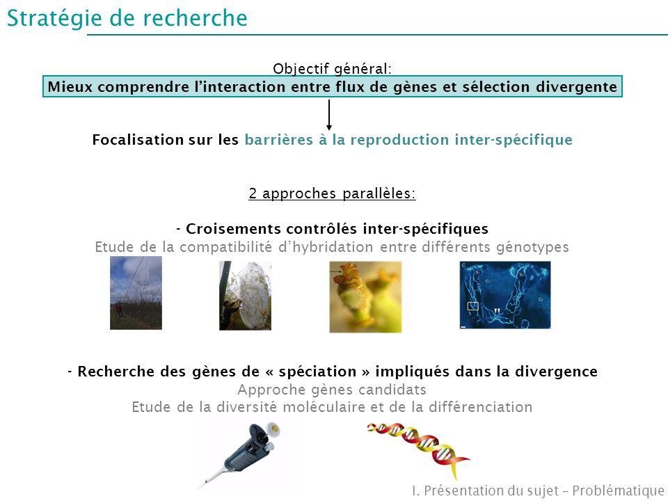 Focalisation sur les barrières à la reproduction inter-spécifique