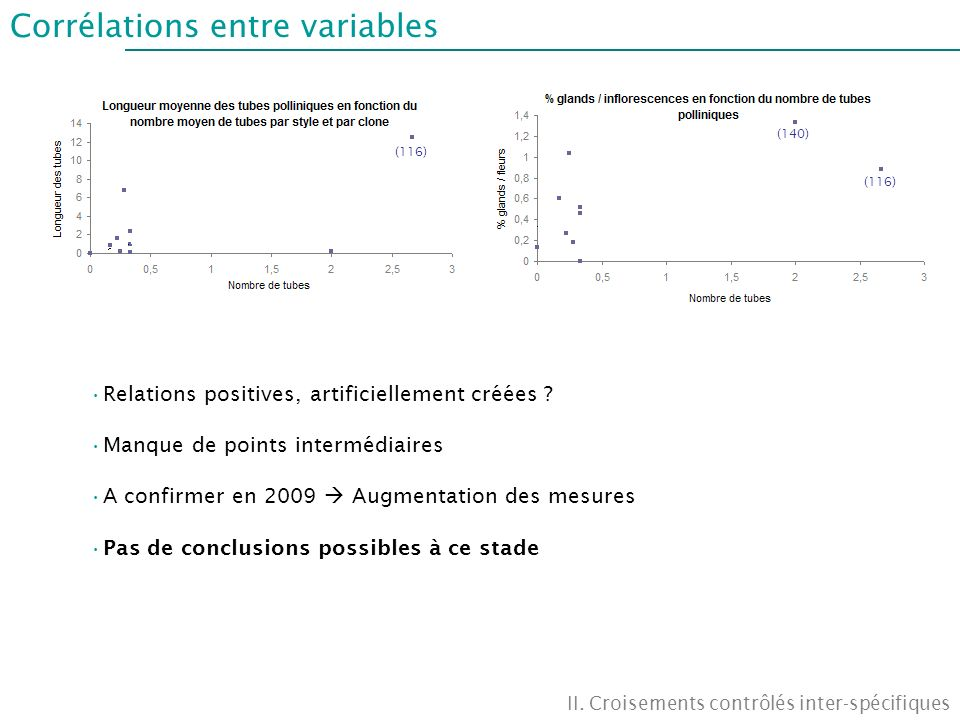 Corrélations entre variables