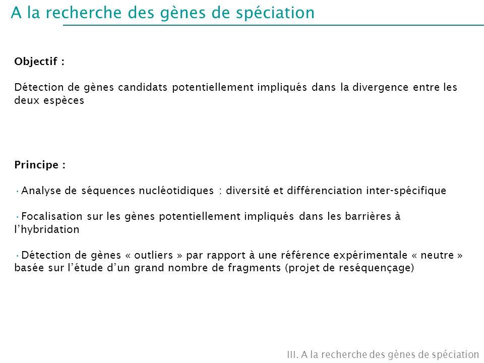 A la recherche des gènes de spéciation