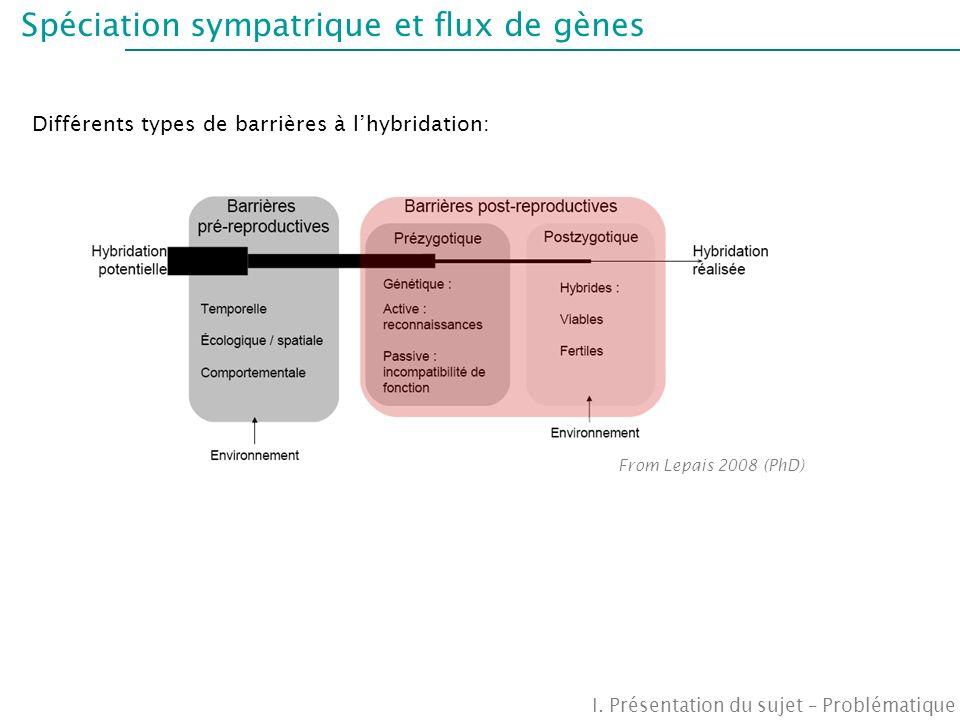 Spéciation sympatrique et flux de gènes