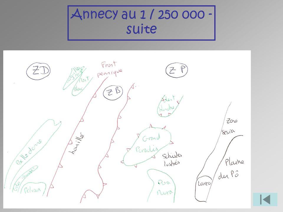 Annecy au 1 / 250 000 - suite