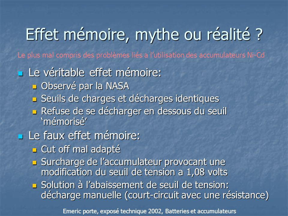 Effet mémoire, mythe ou réalité