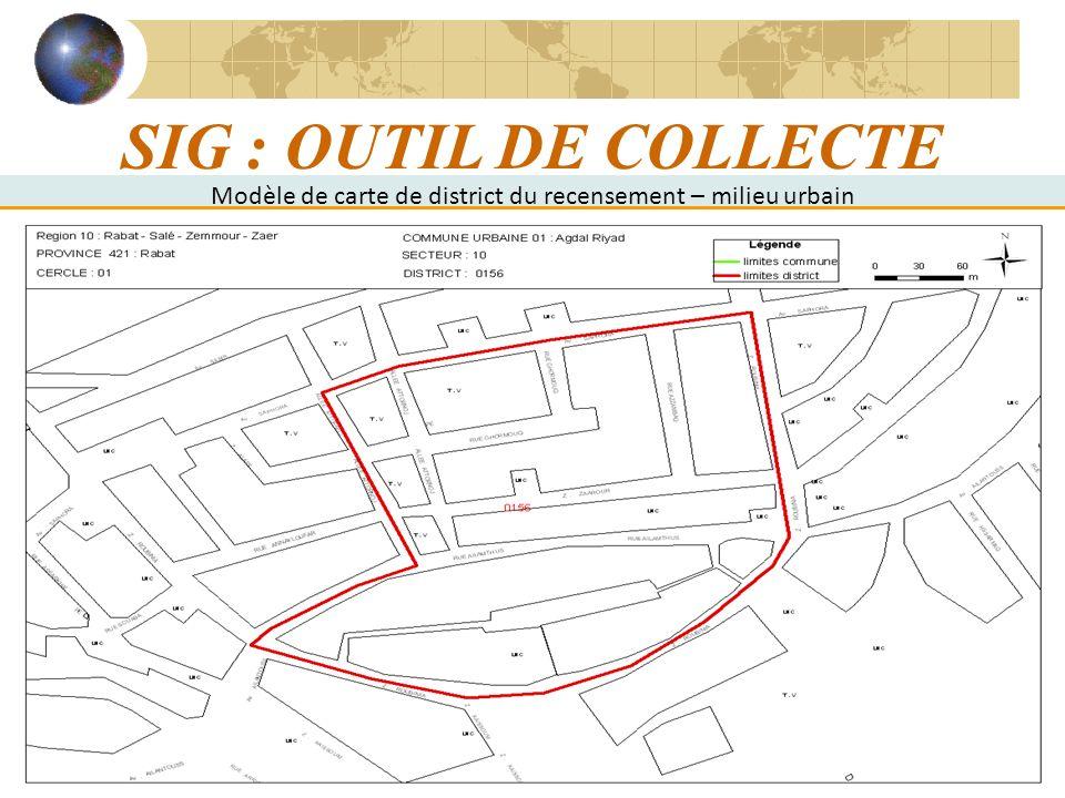 Modèle de carte de district du recensement – milieu urbain
