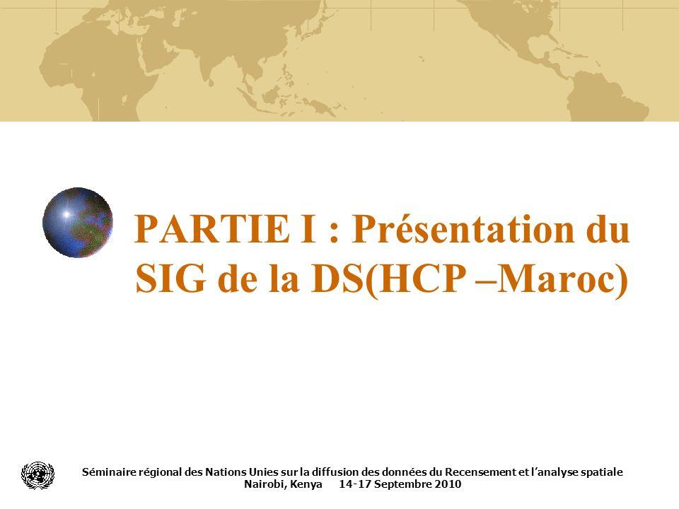 PARTIE I : Présentation du SIG de la DS(HCP –Maroc)