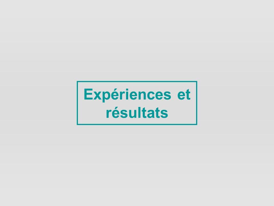 Expériences et résultats