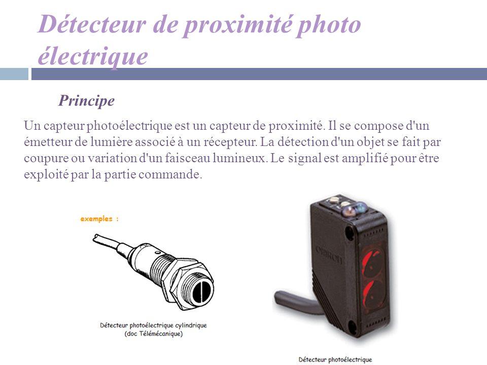 Détecteur de proximité photo électrique