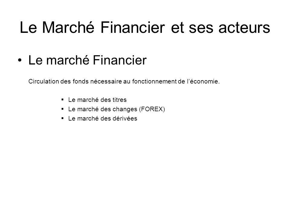 Le Marché Financier et ses acteurs
