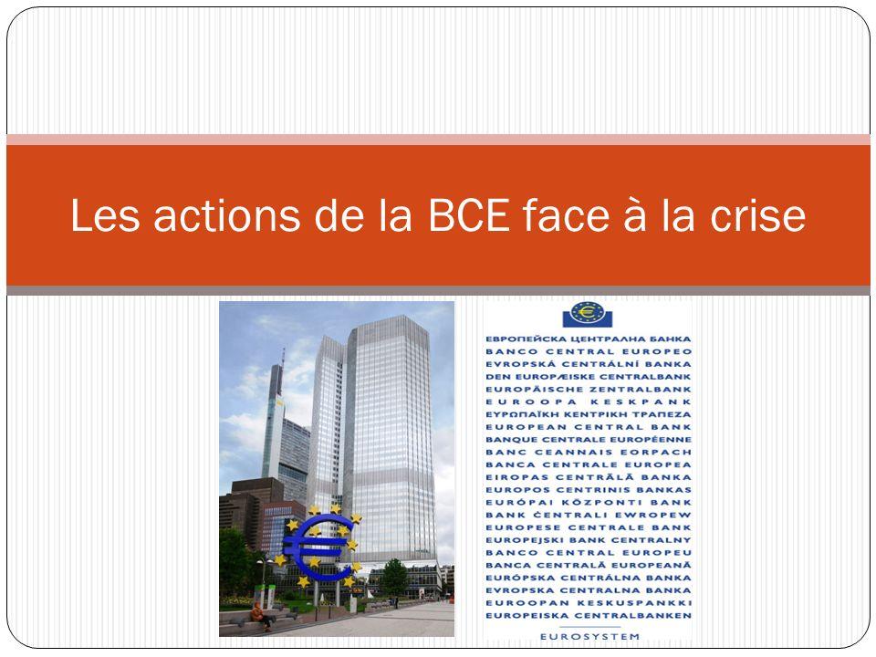 Les actions de la BCE face à la crise