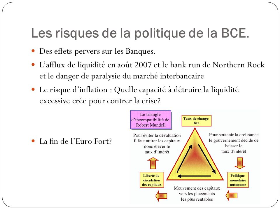 Les risques de la politique de la BCE.