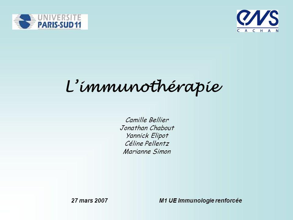 27 mars 2007 M1 UE Immunologie renforcée