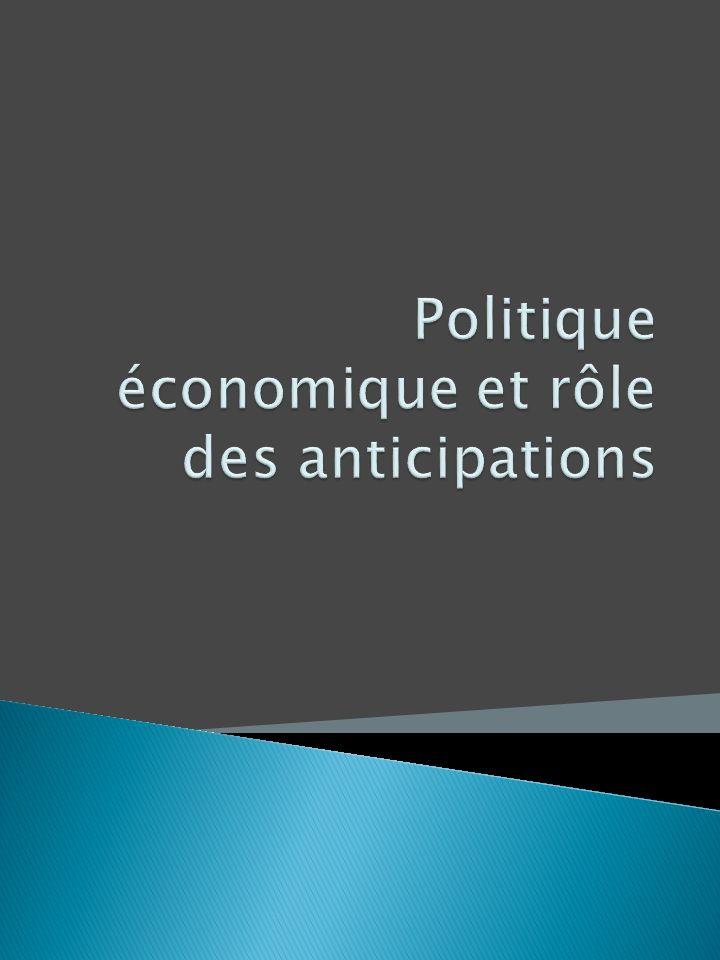 Politique économique et rôle des anticipations