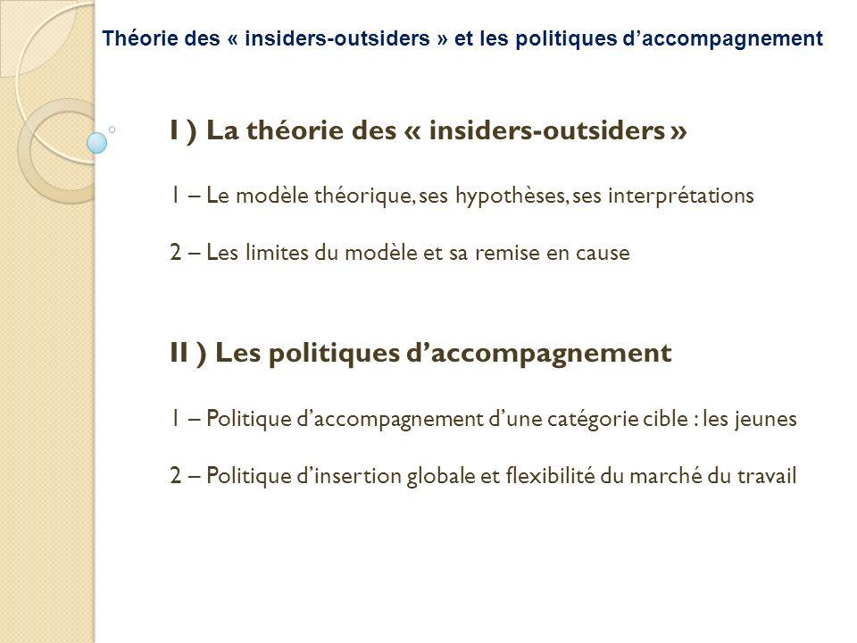 Théorie des « insiders-outsiders » et les politiques d'accompagnement