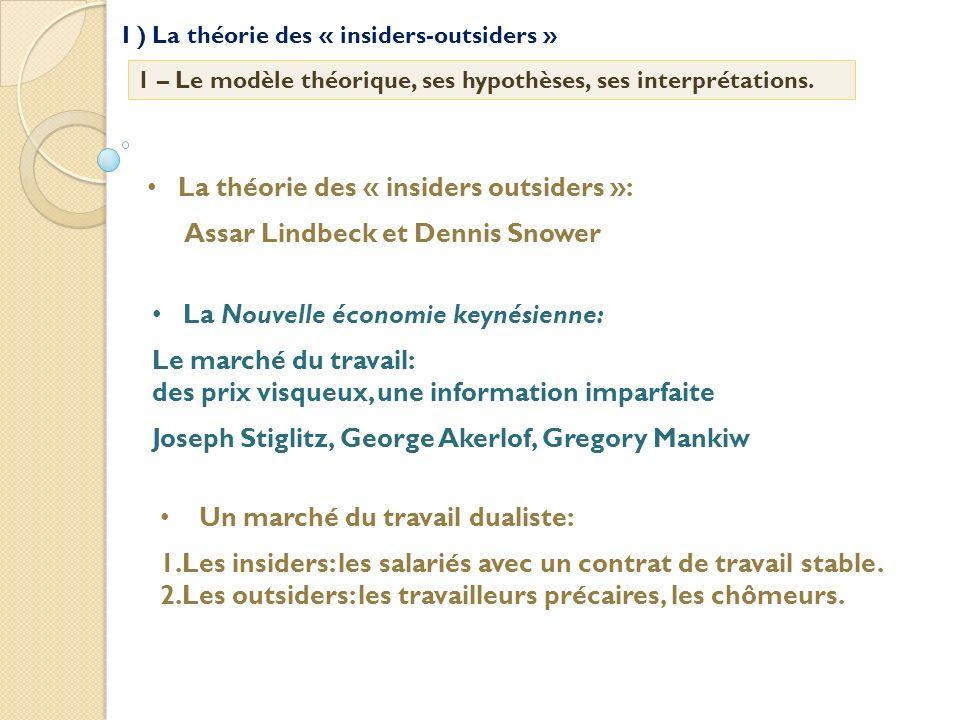 La théorie des « insiders outsiders »: Assar Lindbeck et Dennis Snower