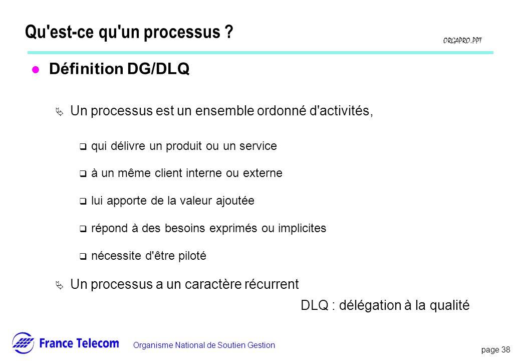Qu est-ce qu un processus