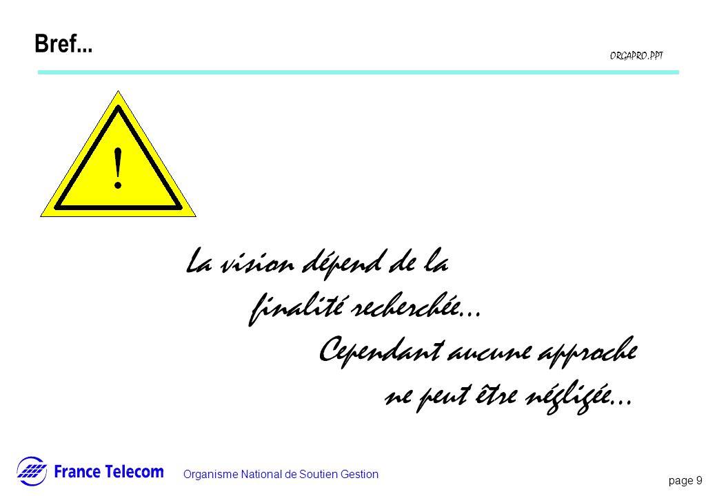 Bref... La vision dépend de la finalité recherchée...