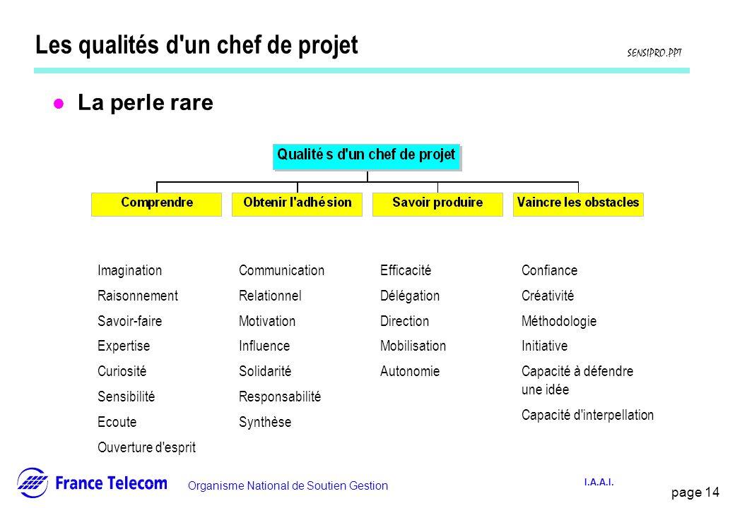 Les qualités d un chef de projet