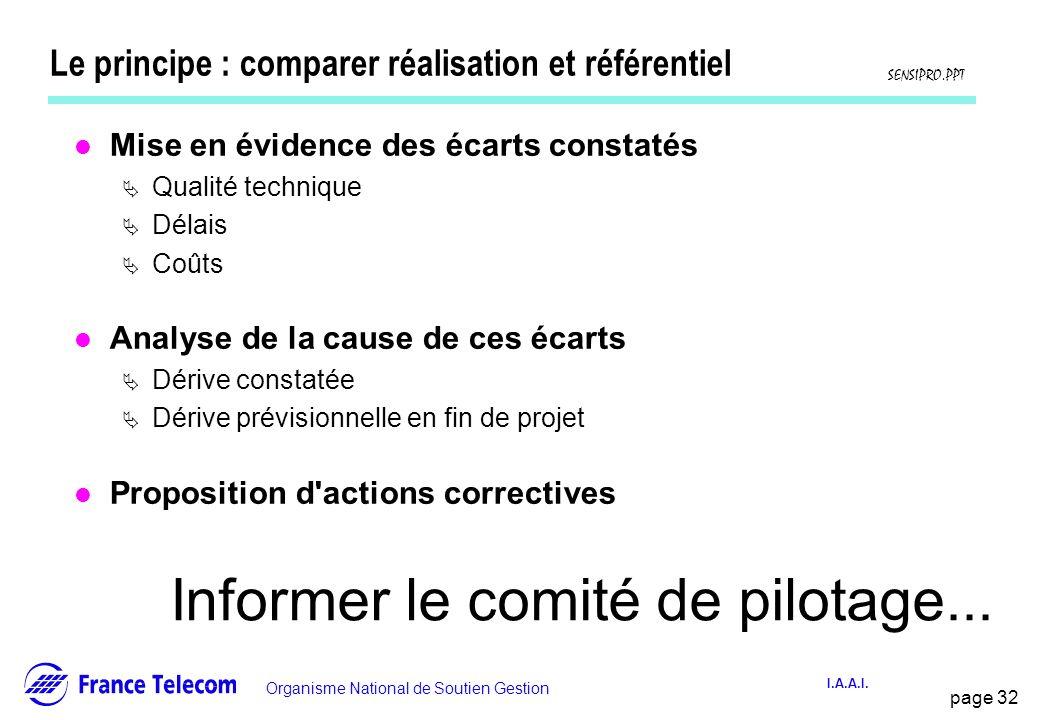 Le principe : comparer réalisation et référentiel