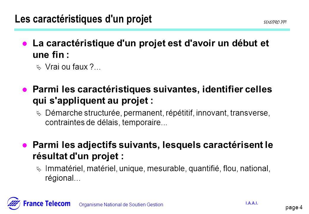 Les caractéristiques d un projet