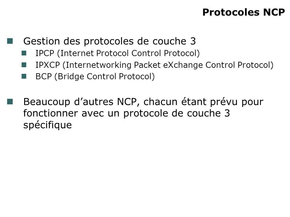 Gestion des protocoles de couche 3