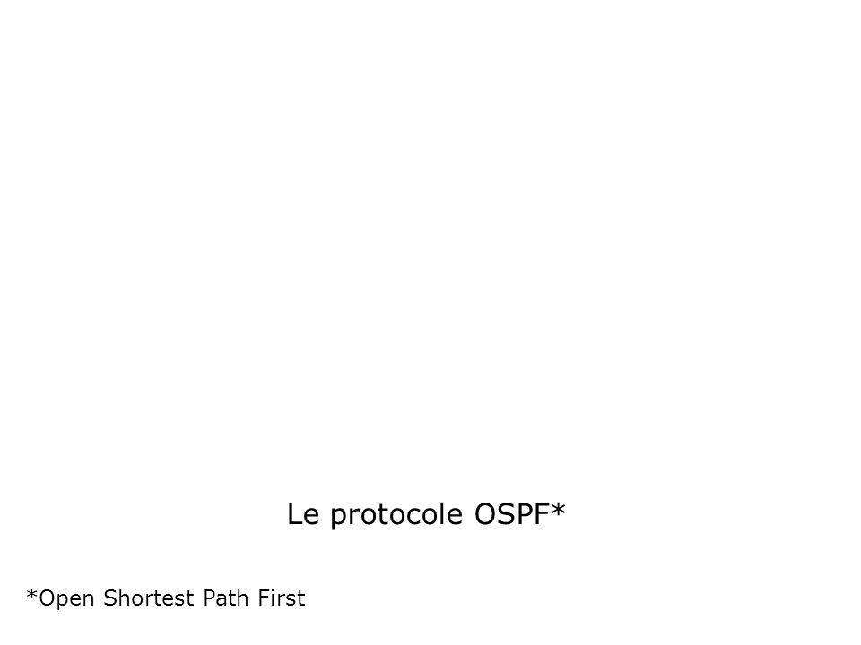 Le protocole OSPF* *Open Shortest Path First