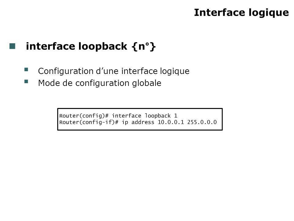 interface loopback {n°}