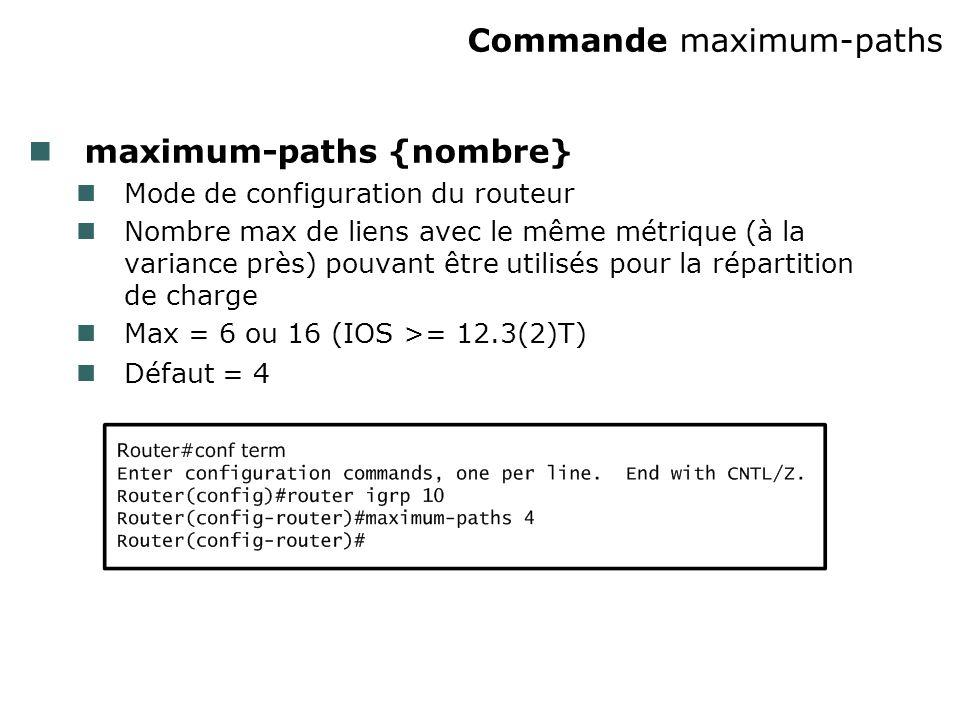 Commande maximum-paths