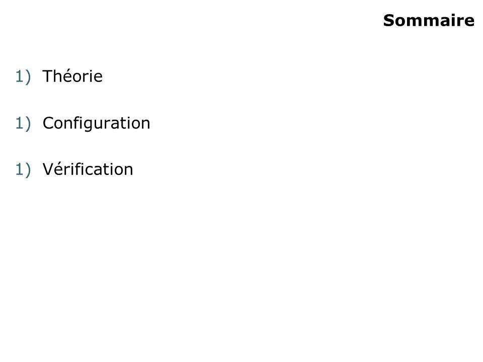 Sommaire Théorie Configuration Vérification