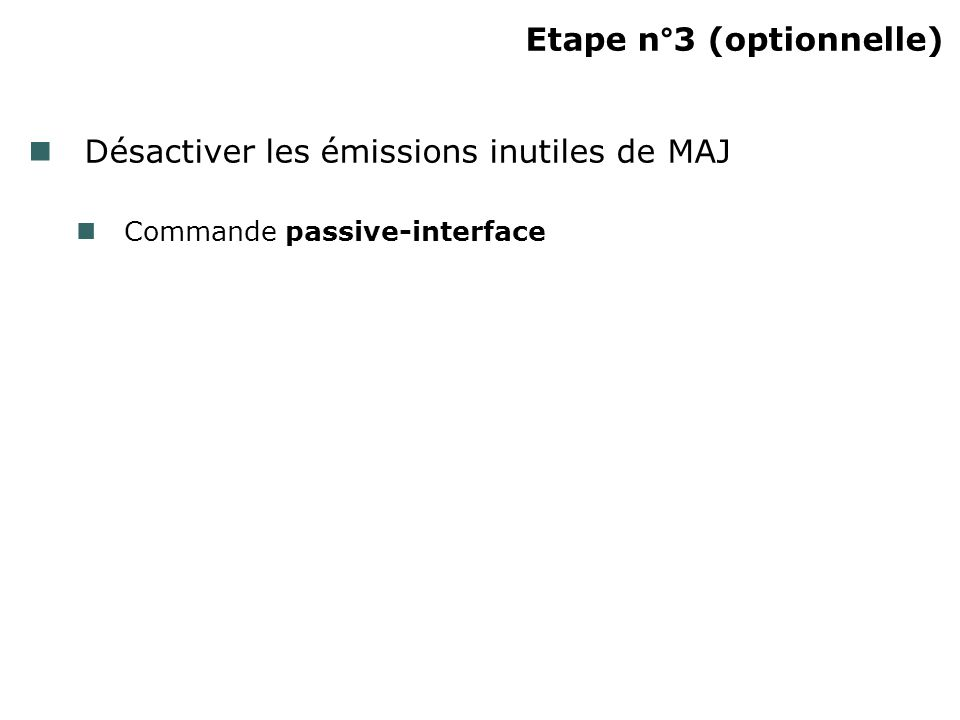 Etape n°3 (optionnelle)