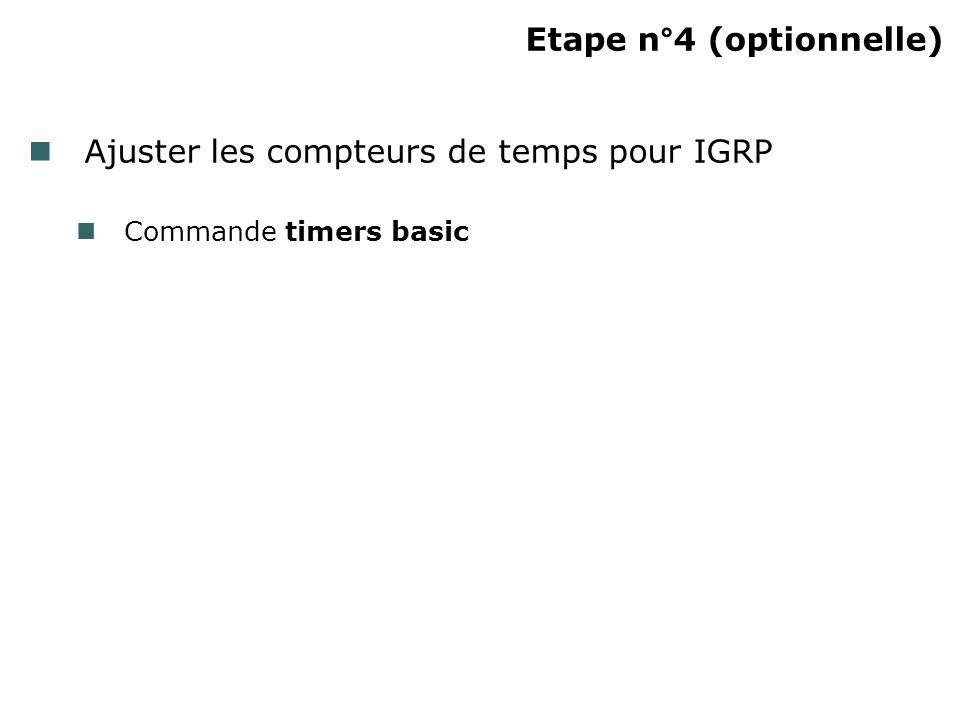 Etape n°4 (optionnelle)
