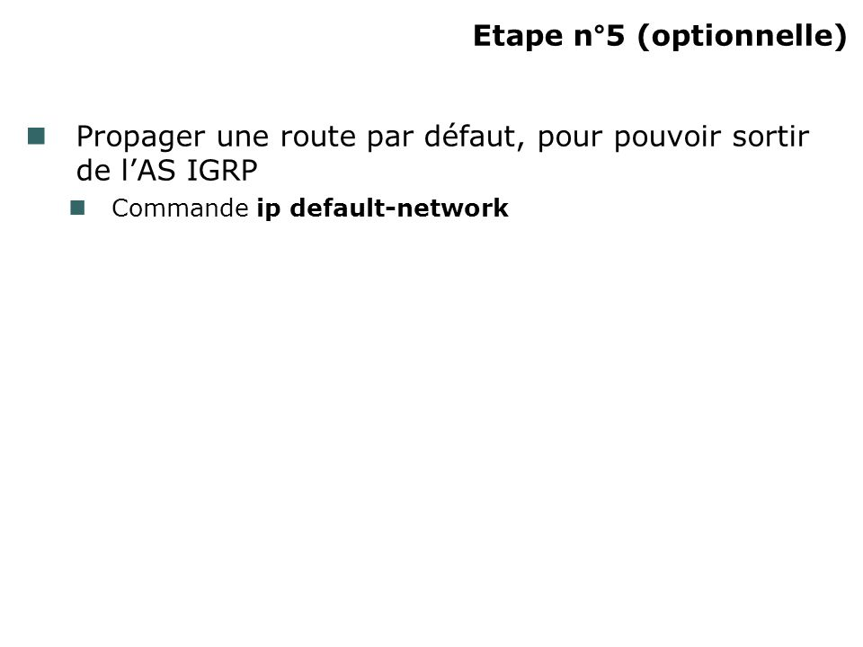 Etape n°5 (optionnelle)‏