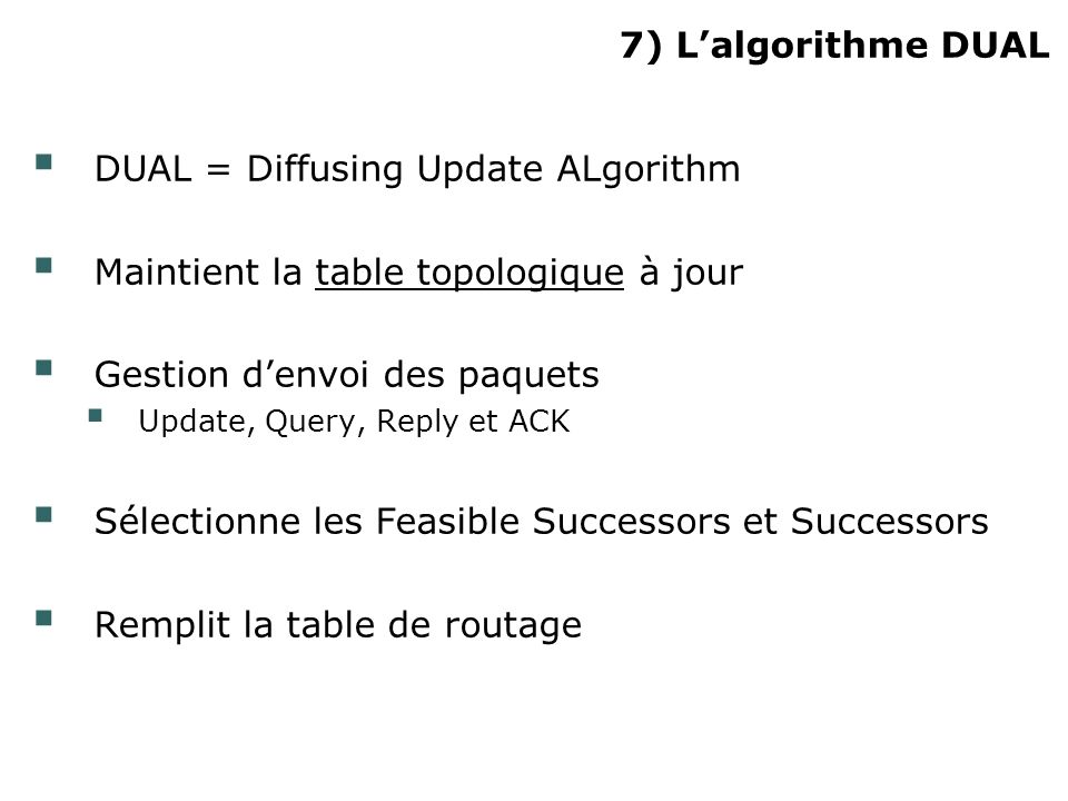 DUAL = Diffusing Update ALgorithm