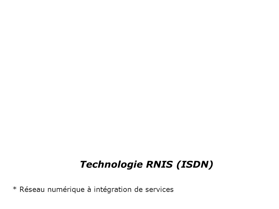 Technologie RNIS (ISDN)‏