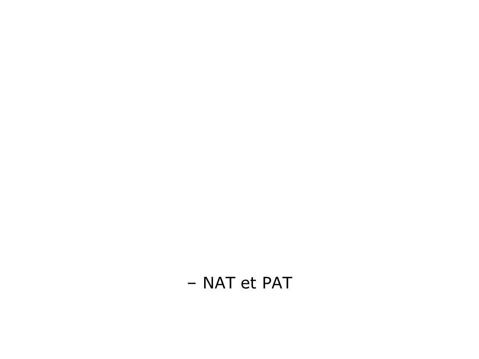 – NAT et PAT