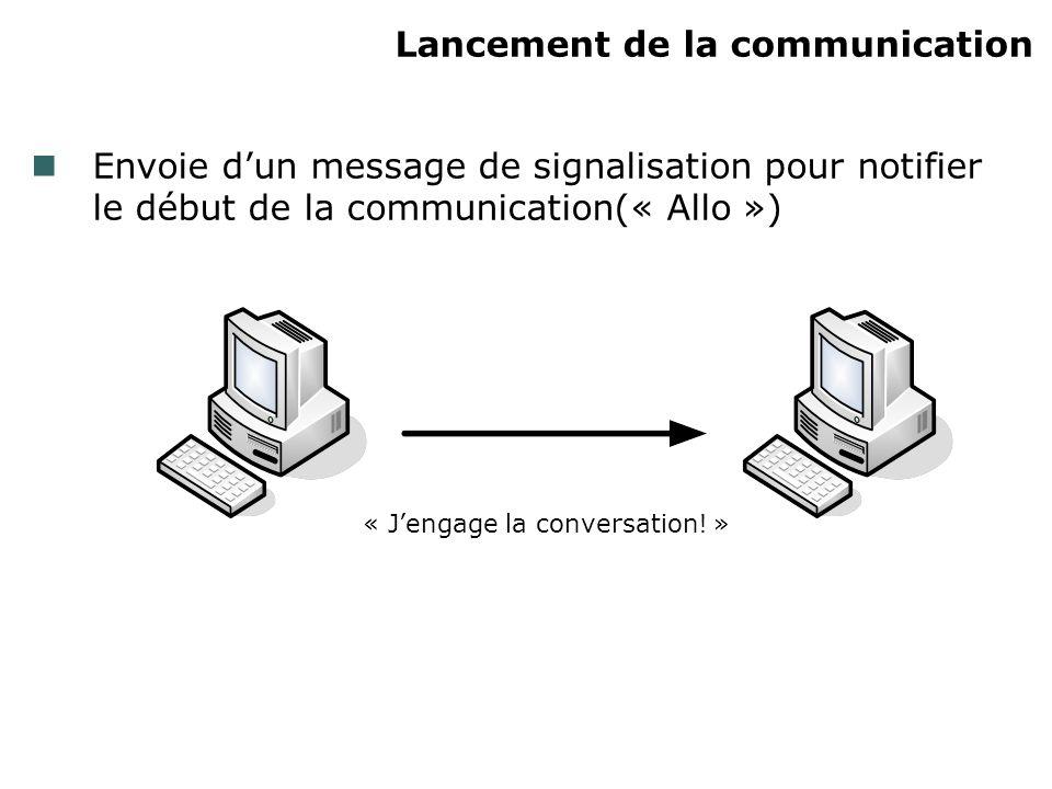 Lancement de la communication