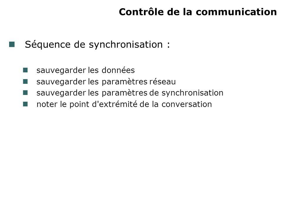 Contrôle de la communication