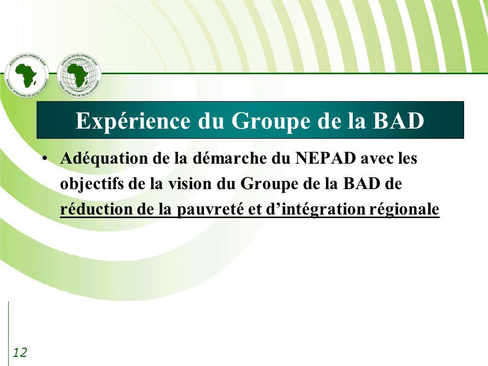 Expérience du Groupe de la BAD