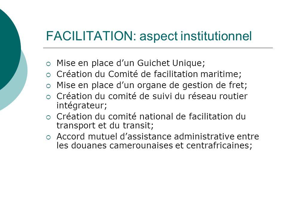 FACILITATION: aspect institutionnel