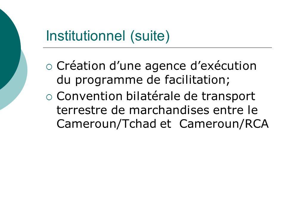 Institutionnel (suite)