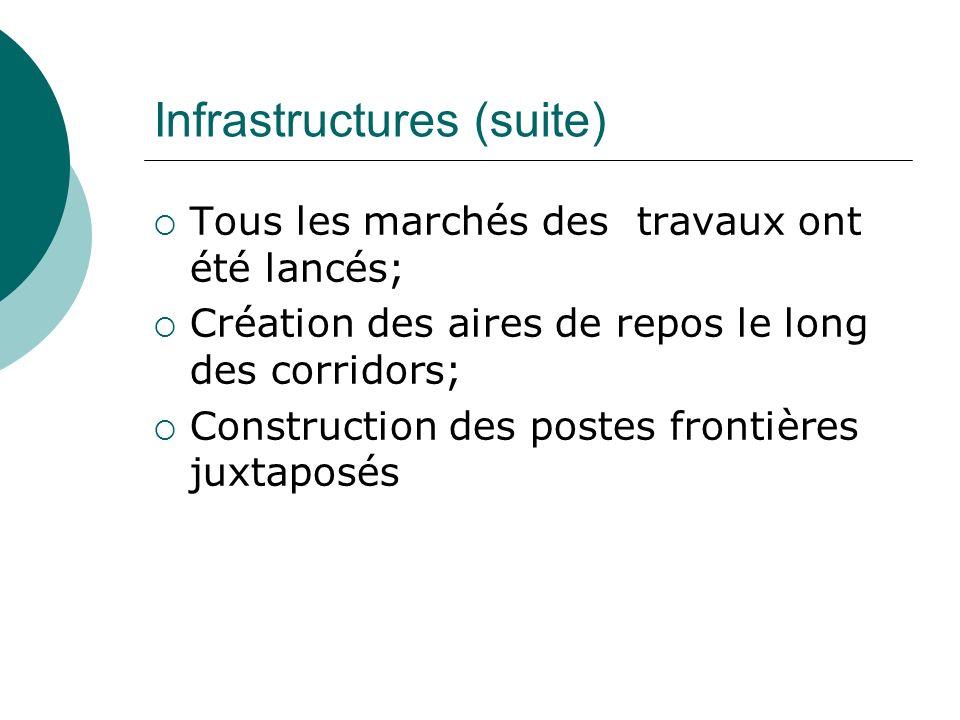 Infrastructures (suite)