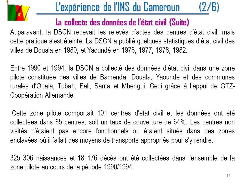 L'expérience de l'INS du Cameroun (2/6)