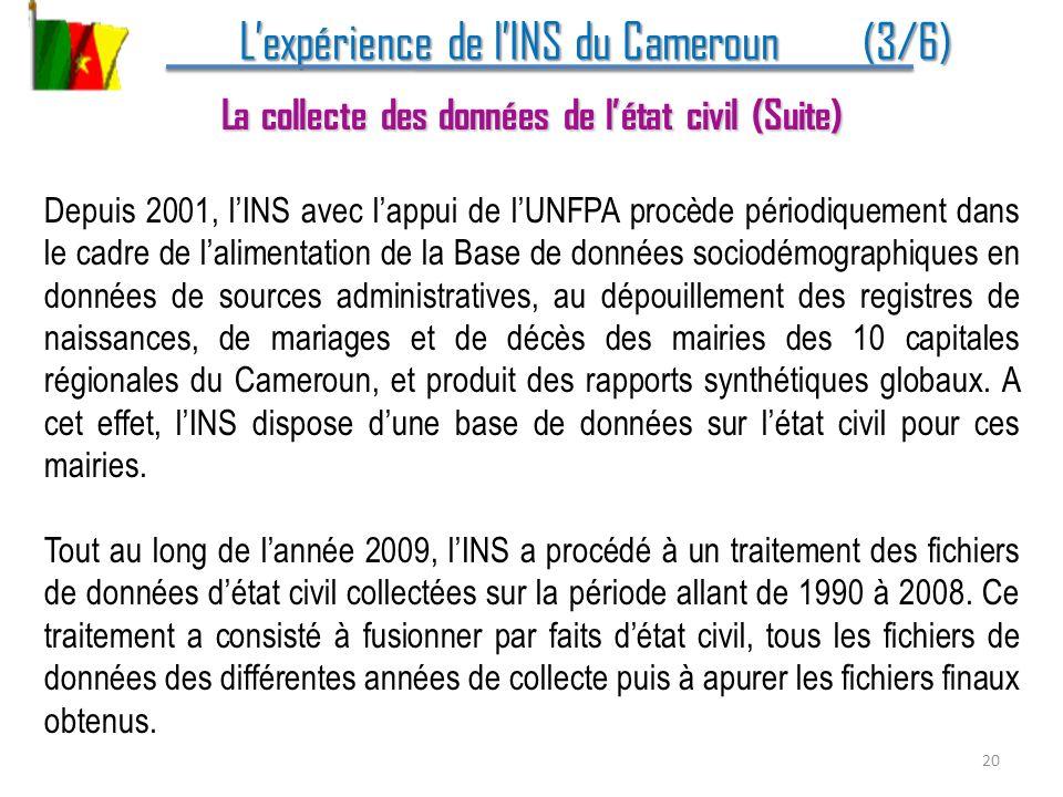 L'expérience de l'INS du Cameroun (3/6)