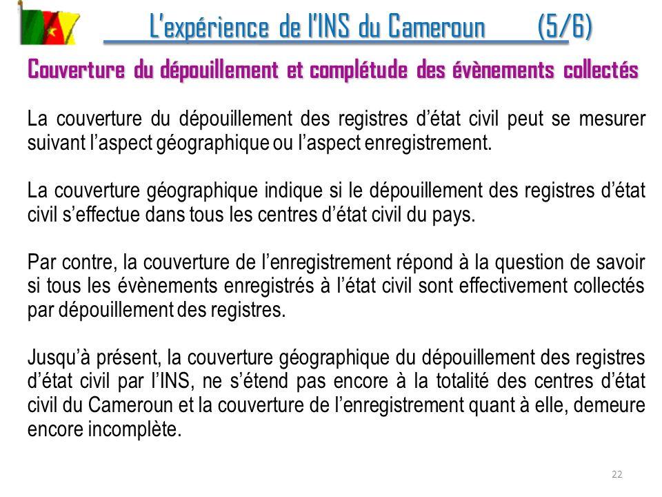 L'expérience de l'INS du Cameroun (5/6)