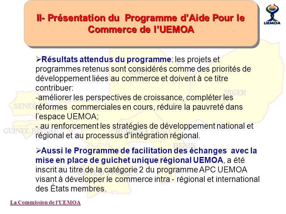 II- Présentation du Programme d'Aide Pour le Commerce de l'UEMOA
