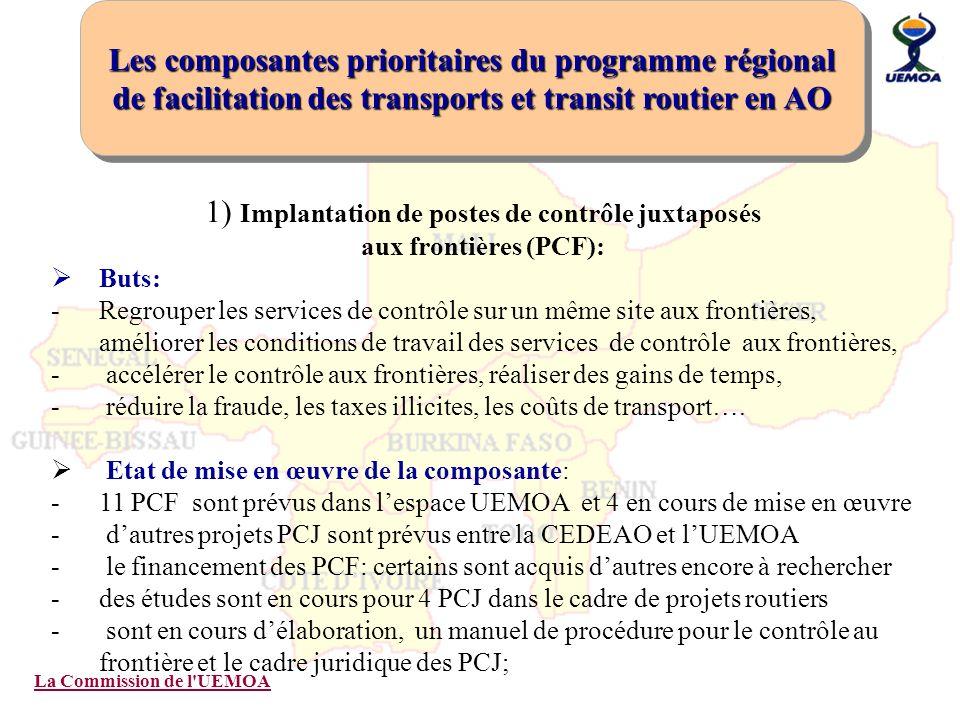 1) Implantation de postes de contrôle juxtaposés