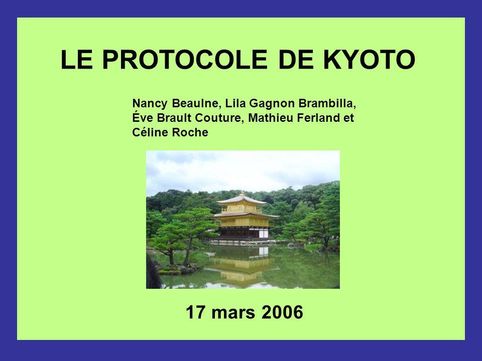 LE PROTOCOLE DE KYOTO 17 mars 2006