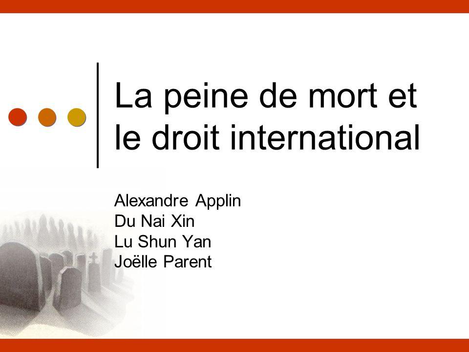 La peine de mort et le droit international